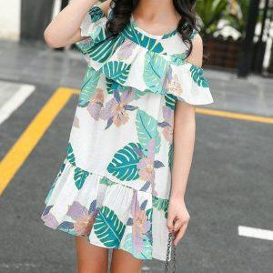 שמלה טרופית יפה לילדה