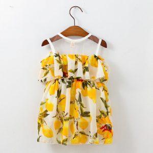 שמלה פרחונית אלגנטית לתינוקת