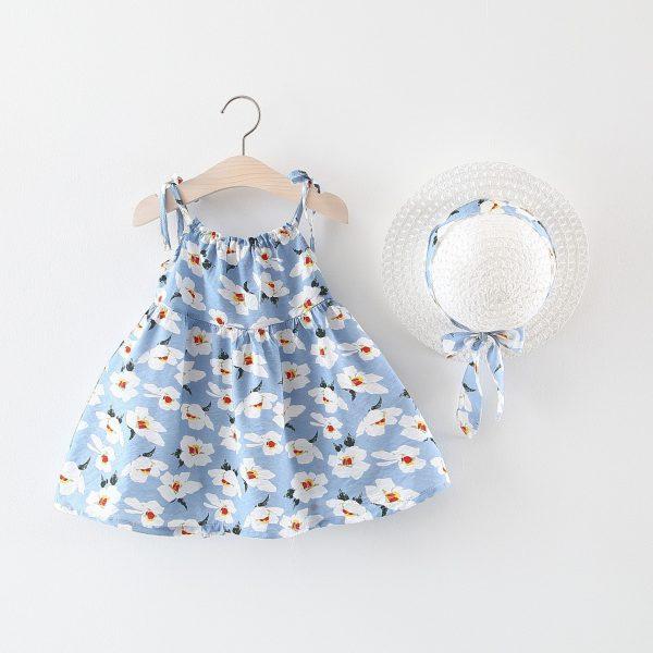 שמלה פרחונית יפה לילדות