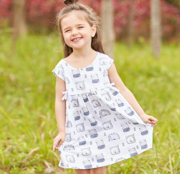 שמלת גן לילדות הדוב הלבן