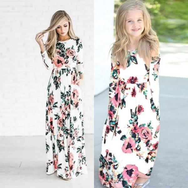שמלה מקסי לאם נסיכת הפרחים