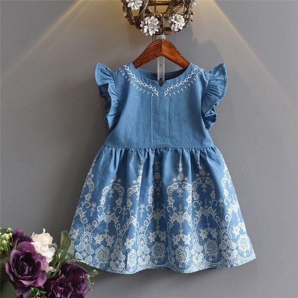 שמלת ג'ינס קצרה לילדות