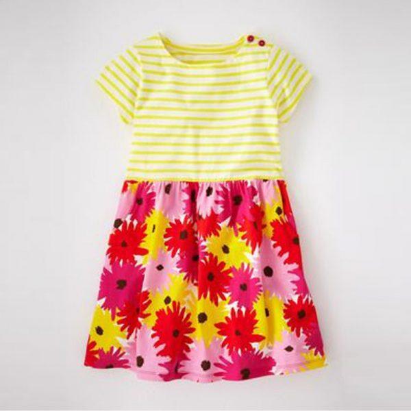 שמלה לילדות חרציות פורחות