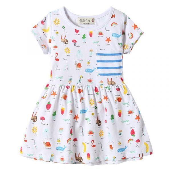 שמלה לילדות ילדות מאושרת לבנות