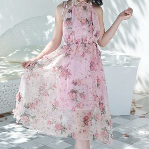 שמלה לילדות שיפון ופריחה