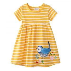 שמלה לילדות ציפור יפה