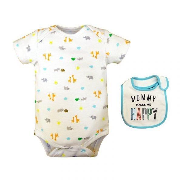 סט בגד גוף תינוק שמח