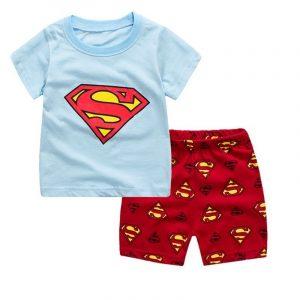 חולצה ומכנסיים סופרמן לילדים