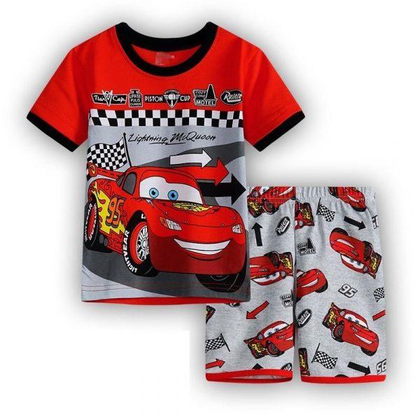 חליפת גן לילדים מכוניות