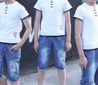 סט לילד חולצה ומכנסיים ג'ינס הנה אני בא