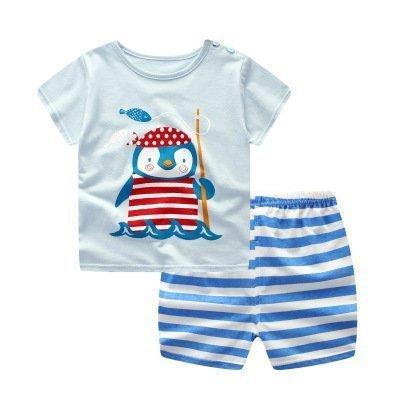 מכנסיים וחולצה לילדים פינגווין דג דג