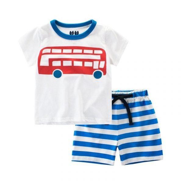 חליפת גן לילדים אוטובוס לבנים