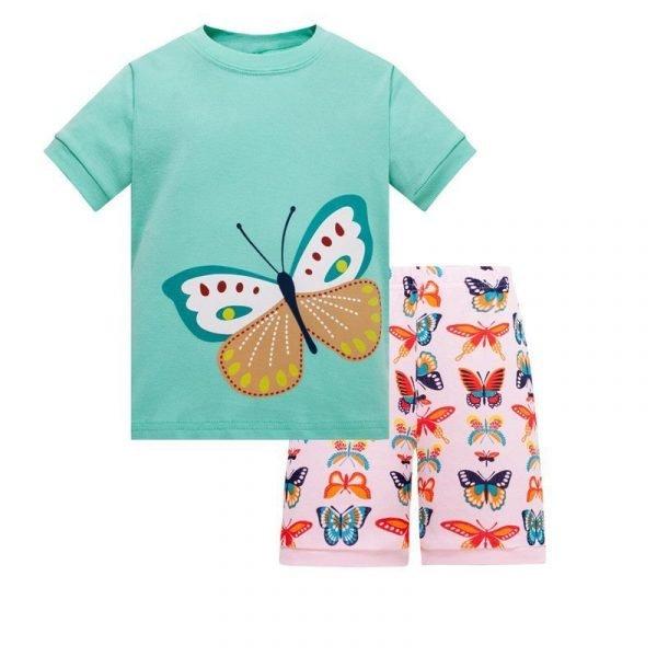 חליפת גן לילדות פרפר נחמד