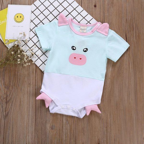 בגד גוף כותנה לתינוקת חזרזרת