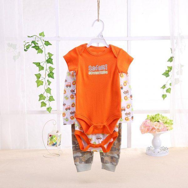 סט בגדי גוף לתינוק כתומי