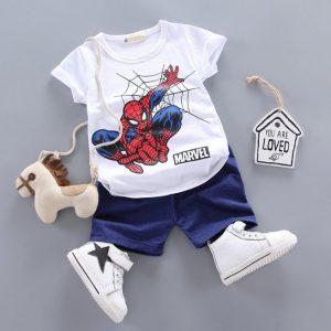 חולצה ספיידרמן ומכנסיים לילדים