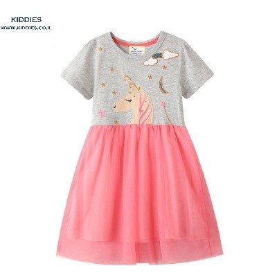 שמלה חד-קרן לילדות שמלת יוניקורן