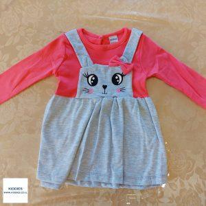 שמלה לילדות ארנבת מאוהבת